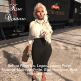 Kira Couture Sweater and  pencil skirt Emilie
