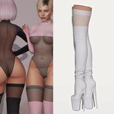 "Amataria - High-Heeled Boots ""Janice"" - white"
