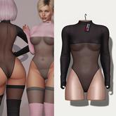 "Amataria - Nylon Bodysuit ""Janice"" - black"