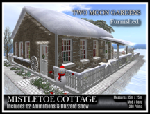 TMG - MISTLETOE COTTAGE - FURNISHED* Christmas Cabin and garden with Fairy Lights