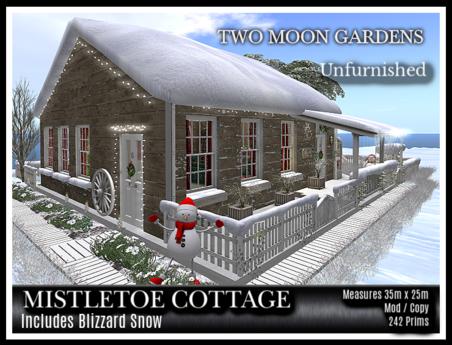 TMG - MISTLETOE COTTAGE - UNFURNISHED* Christmas Cabin with a landscaped garden