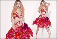 Boudoir Christmas-Bauble Dress Red
