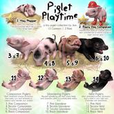 JIAN Playtime Piglets 11. Pink Held BOX