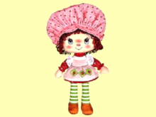 "1 PRIM ALPHA CHILD WALL DECAL ""STRAWBERRY SHORTCAKE DOLL"" 3D FLAT HOME DECOR or STANDUP cardboard figure! COPY/MOD!"