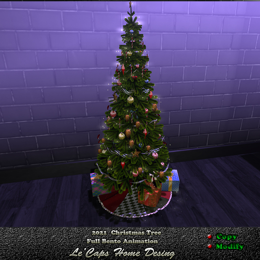 Secondlife Christmas 2021 Second Life Marketplace Le Caps 2021 Bento Christmas Tree
