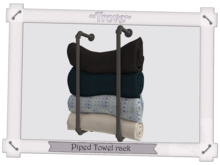 ~Trove~ Piped Towel rack Silver