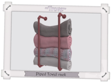~Trove~ Piped Towel rack Pink