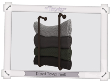 ~Trove~ Piped Towel rack Brown