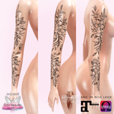 ~APOLLEMIS Tattoos~ Apple & Jasmine Blossom Sleeve
