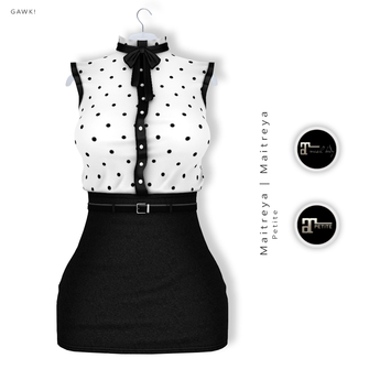 GAWK! Black Dotted Vintage Blouse Dress | for Maitreya Lara | Maitreya Petite