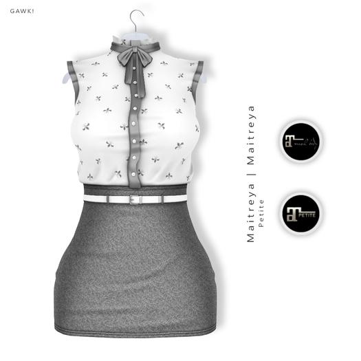 GAWK! Silver Vintage Blouse Dress   for Maitreya Lara   Maitreya Petite