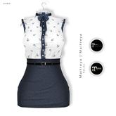 Gawk! Navy Vintage Blouse Dress