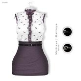 GAWK! Plum Vintage Blouse Dress | for Maitreya Lara | Maitreya Petite