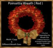 Poinsettia Wreath ( Red )