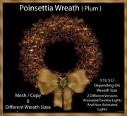 Poinsettia Wreath ( Plum )