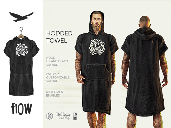 flow . Hooded Towel 01
