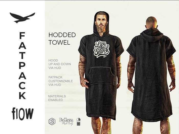 flow . Hooded Towel Fatpack