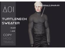 < Aoi > Turtleneck sweater - Black