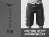 Flow motion strip boardshort fatpack