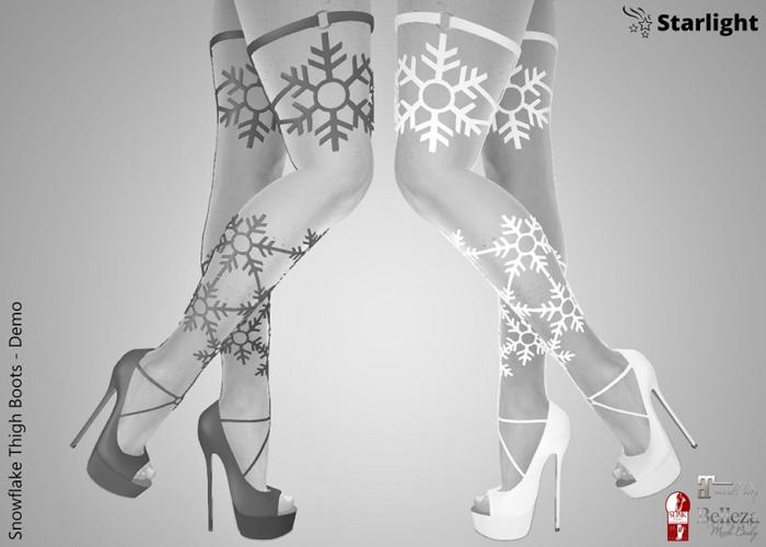 :: SA :: Snowflake Thigh Boots - Demo