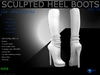 Sculpt full perm heel boots no.12 for shoes designers