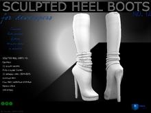 Sculpt full perm heel boots no.12 for shoes designers