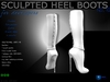 Sculpt full perm heel boots no.10 for shoes designers
