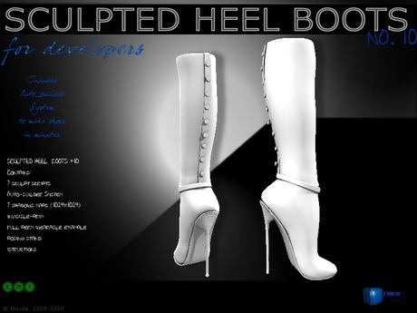 Sculpt full perm heel boots no.10 for shoes designers