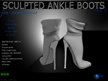 Sculpt full perm Heels Ankle Boots no.3 with shadows maps  for shoes designers
