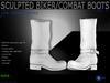Sculpt full perm biker/combat boots for shoes designers