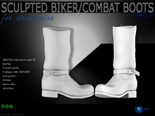 Sculpt full perm biker/combat boots for shoes designers