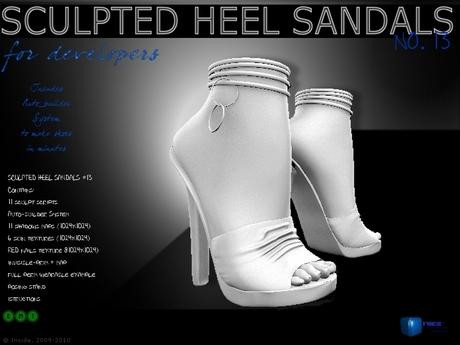 Sculpt full perm heel  sandals no.13 for shoes designers