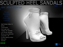 Sculpt full perm heel  sandals no.13 for shoes designers