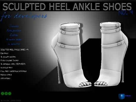 Sculpt full perm heel ankle shoes no.9 for shoes designers 1.0