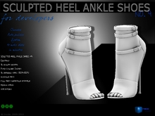 Sculpt full perm heel ankle shoes no.9 for shoes designers 1.0