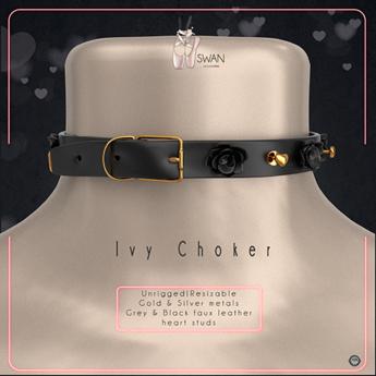 Swan Ivy Choker Grey