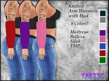 Tastic-Knitted Arm Warmers w/hud