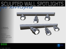 Sculpted full perm wall spotlights - Inside