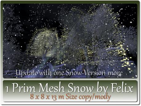 1 Prim Mesh Snow by Felix 8x8x13m Size copy-mody