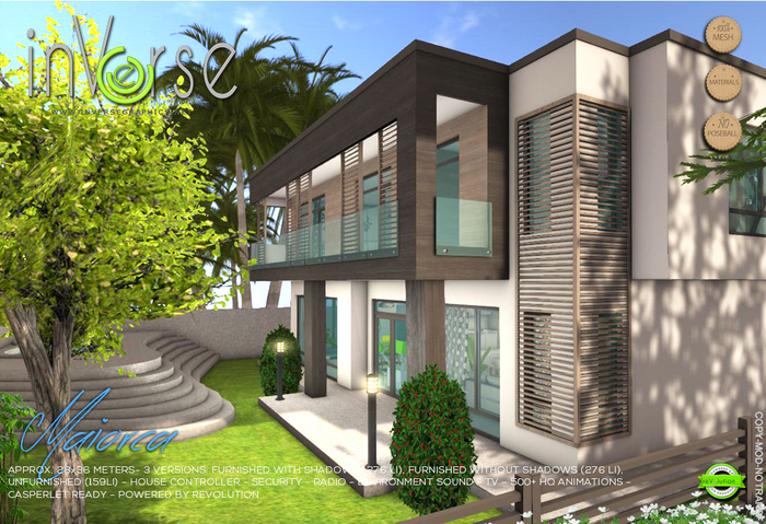 inVerse Mesh - MAIORCA - furnished  modern house Hi-definition 500+ HQ animations