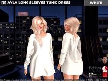 [S] Ayla Long Sleeves Tunic Dress White