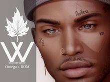 WBN` Restless Face Tattoo