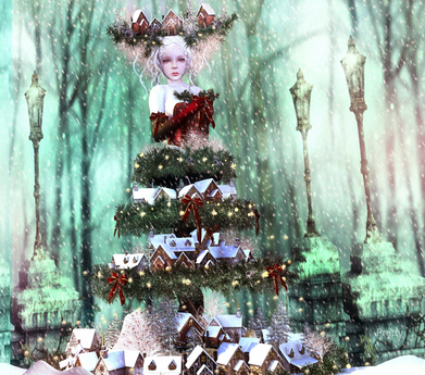 Secondlife Christmas 2021 Second Life Marketplace Irrisistible Christmas Village Outfit 2 Styles With Hairs 2021