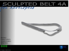 Sculpted full perm belt maker kit 4a for cloth designers