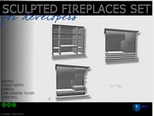 set of  full perm sculpted fireplaces  - Inside Studio
