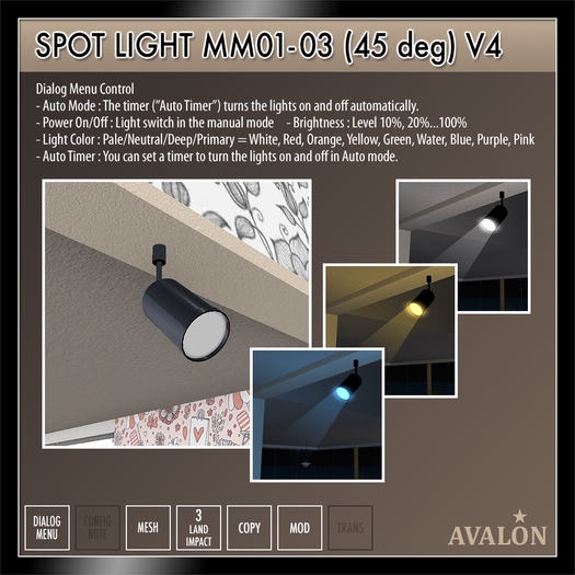 AVALON : Spot Light MM01-03 (45 deg)