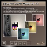 AVALON : Bracket Light MM01-01