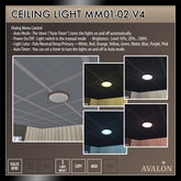 AVALON : Ceiling Light MM01-02