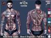 Rock Tattoo Male - Horse & Dragon V1 ( Full Body )