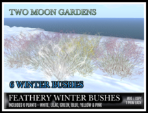TMG - FEATHERY WINTER BUSHES - 6 PACK*
